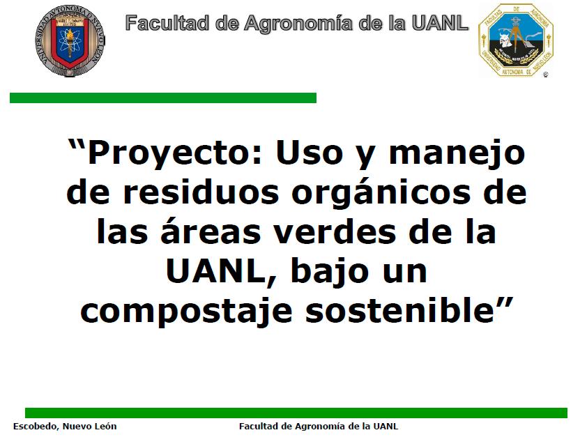 PROYECTO USO Y MANEJO DE RESIDUOS ORGÁNICOS