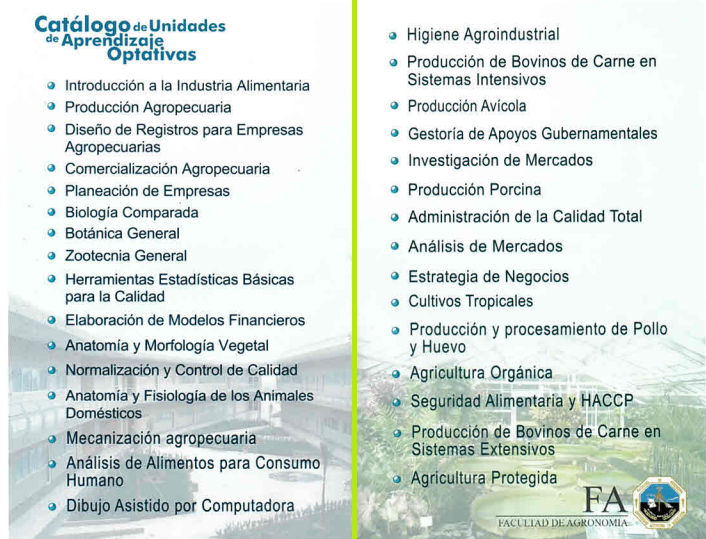 Ingeniero en Agronegocios (Agribusiness Engineer) | Facultad de ...