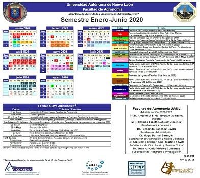 Calendario 2020 (Actualizado)